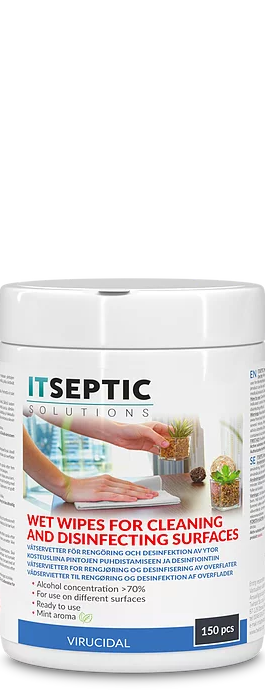 ITSEPTIC Cleaning and Disinfection Wipes (150 pcs, 12x24 cm, alcohol-based)