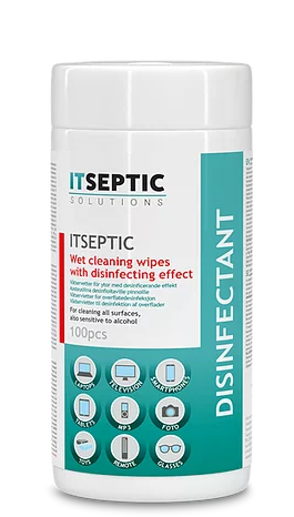 ITSEPTIC Cleaning and Disinfection Wipes (100 pcs, 13,5x15 cm, alcohol-free)