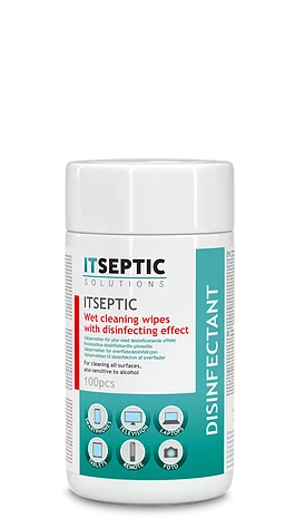 ITSEPTIC Cleaning and Disinfection Wipes (100 pcs, 9x13.5 cm, alcohol-free)