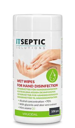 ITSEPTIC Hand Disinfection Wipes (100 pcs, 13,5x15 cm)