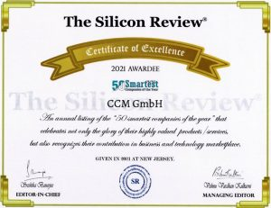 The Silicon Review: 50 Smartest Companies Certificate
